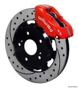Wilwood '06-'17 Civic Narrow Superlite 6R Front BBK: Red Caliper/Drilled Rotor