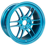 Enkei RPF1 17x9 5x114.3 22mm Offset 73mm Bore Emerald Blue