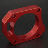 Torque Solution 06-11 Civic SI Throttle Body Spacer: 70mm - Red