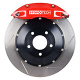 StopTech BBK 02-06 Acura RXS Type S / 02-04 Honda Civic Type R Red Calipers Slotted Rotors Pads