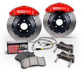 StopTech 08+ Impreza WRX Front BBK ST40 328x28 Drilled Rotors Red Calipers