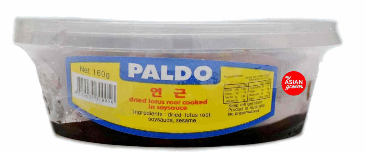 Paldo Lotus Root Cooked in Soy Sauce 160g