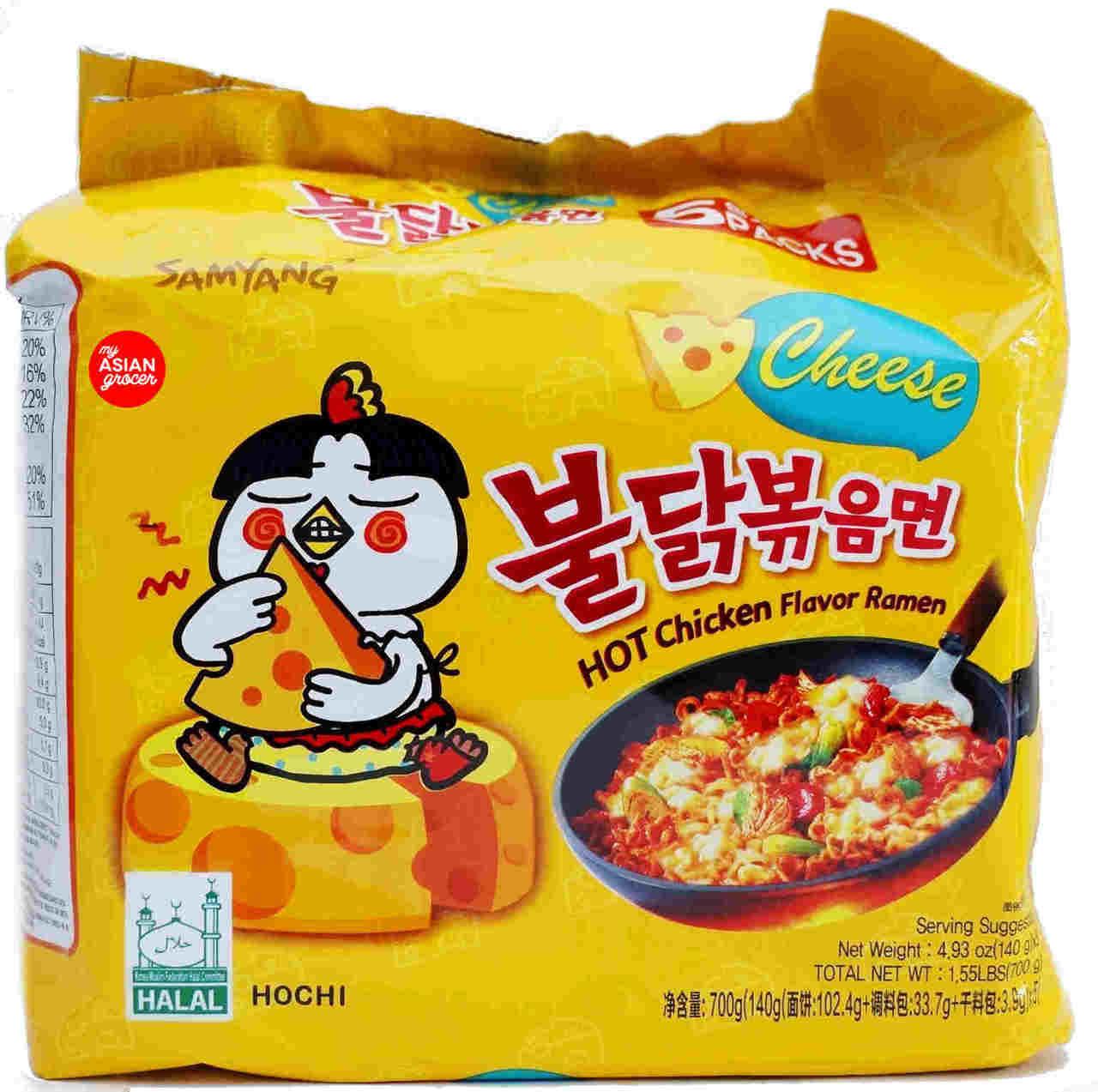 Samyang Hot Chicken with Cheese Ramen 140g x 5 Pack