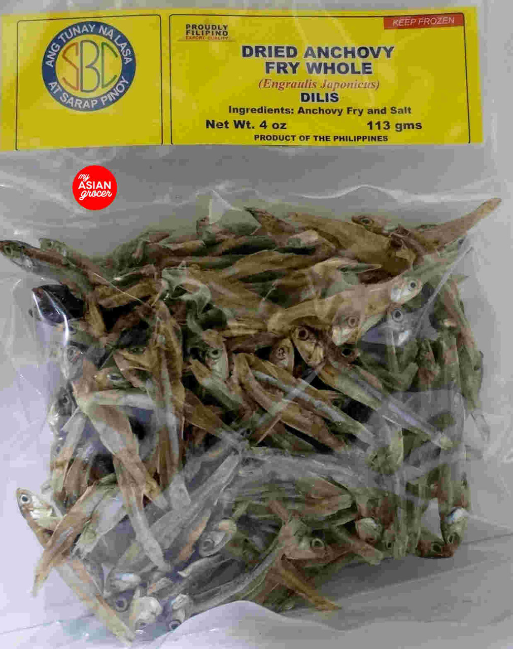 SBC Dried Anchovy Fry Whole Dilis 113g