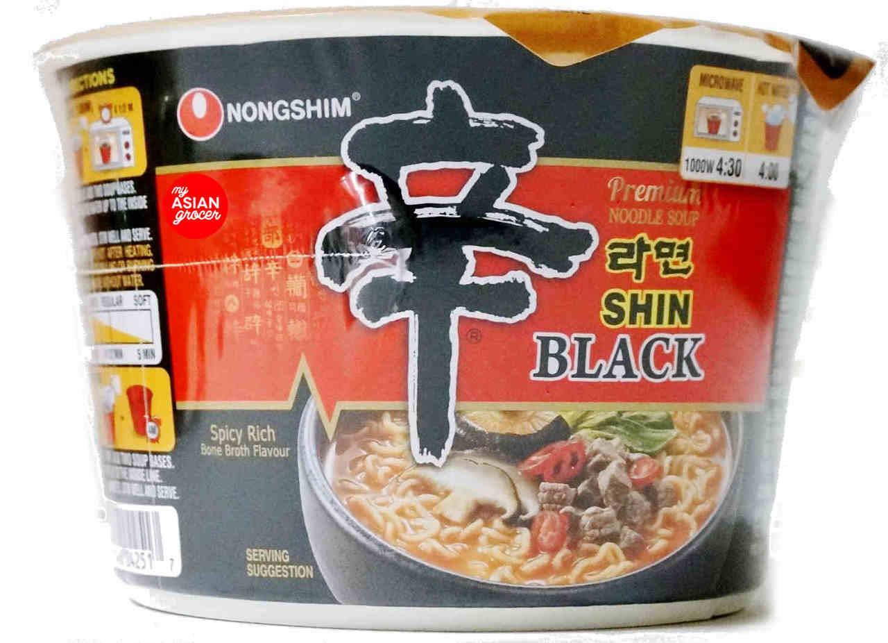 Nongshim Shin Black Premium Noodle Soup Bowl 101g My Asian Grocer