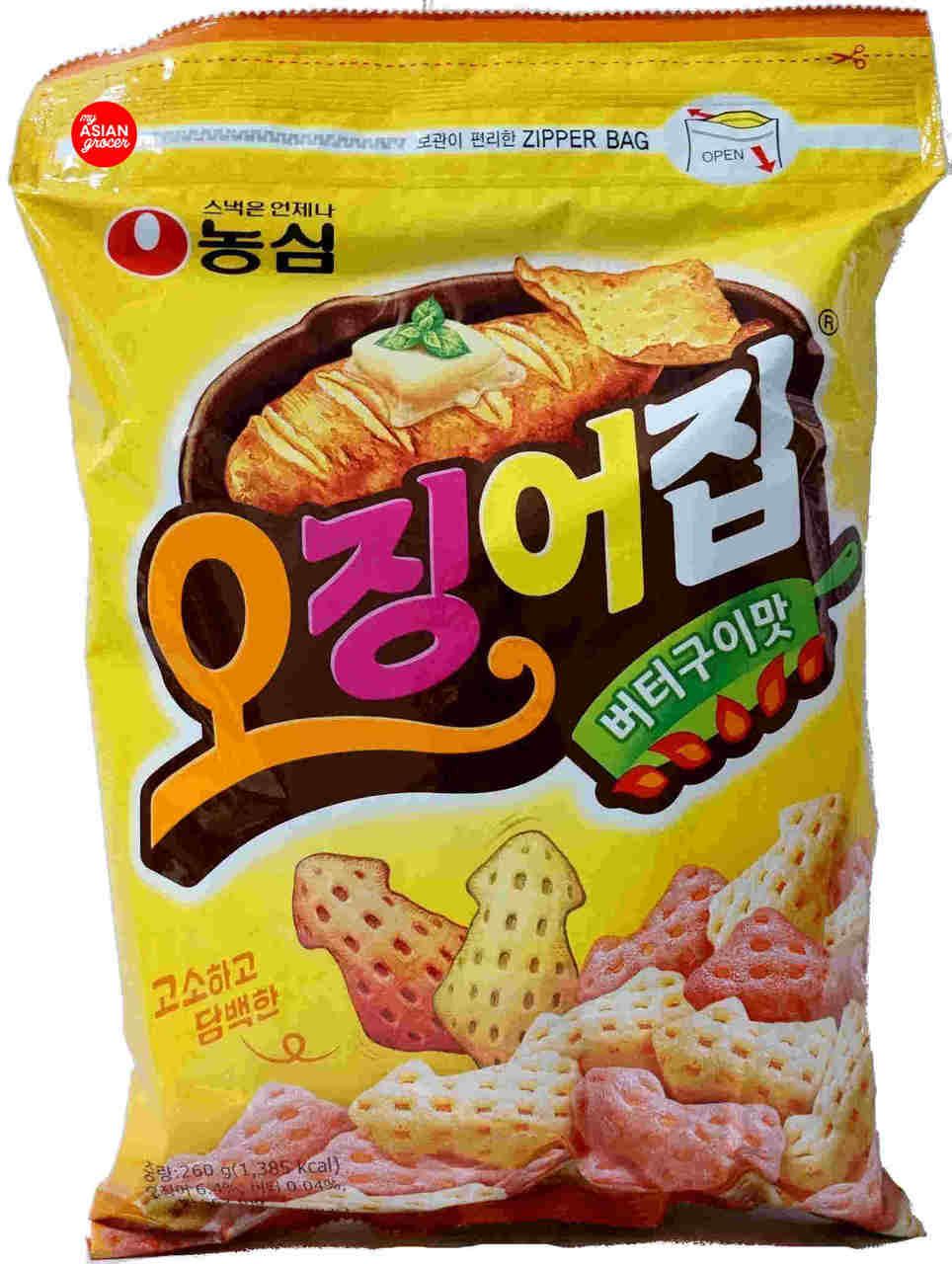 3c9357d4b1e5 Nong Shim Cuttlefish Roasted Butter Chips 260g - My Asian Grocer