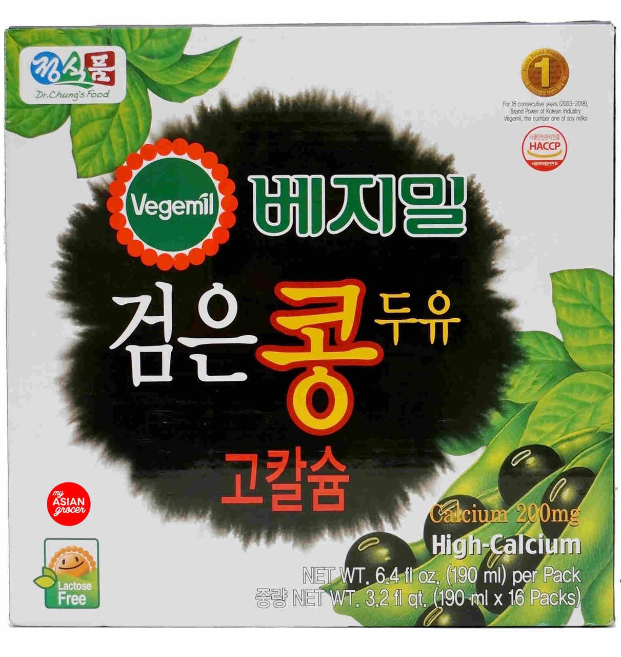 Vegemil Black Bean Soy Milk High Calcium 190ml x 16 Packs