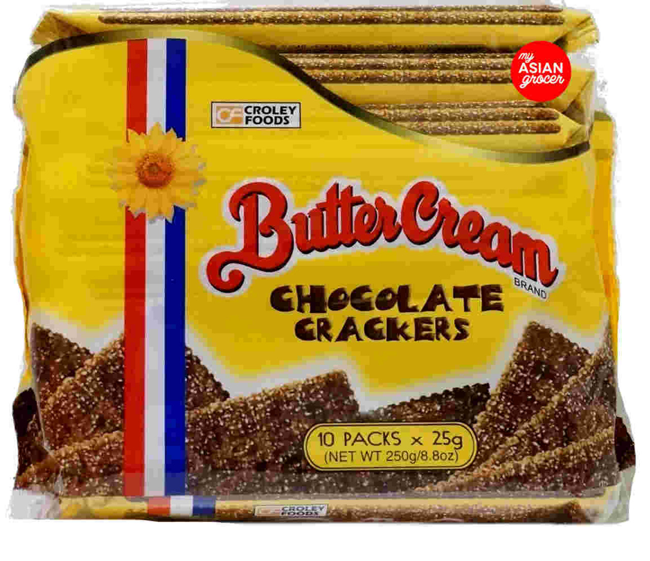 Croley Foods Butter Cream Chocolate Crackers 10 Packs x 25g