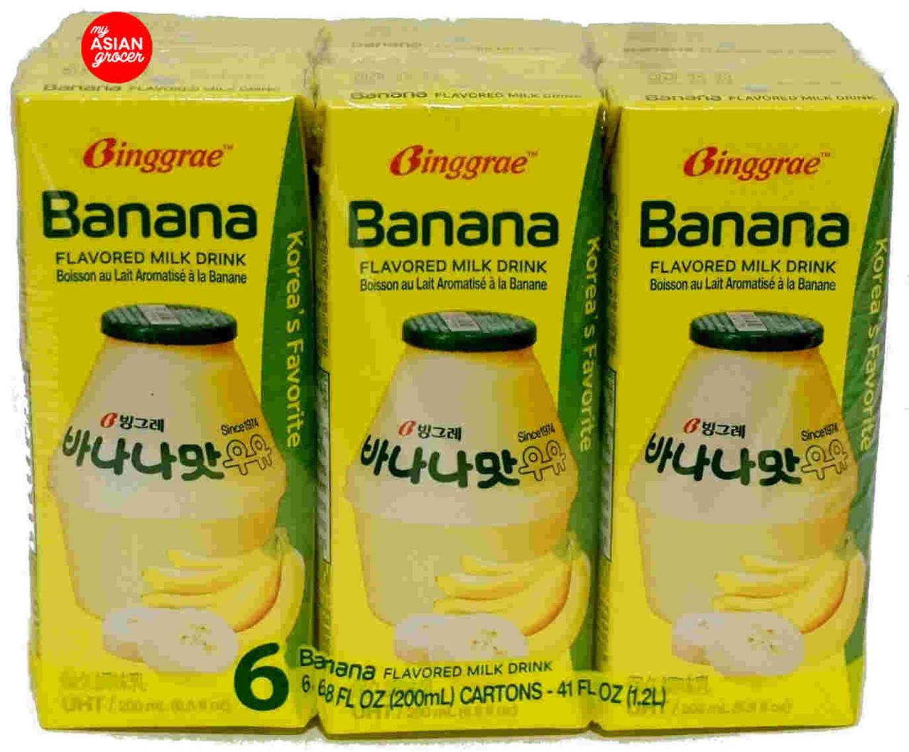 Binggrae Banana Flavored Milk Drink 200ml x 6 Pack