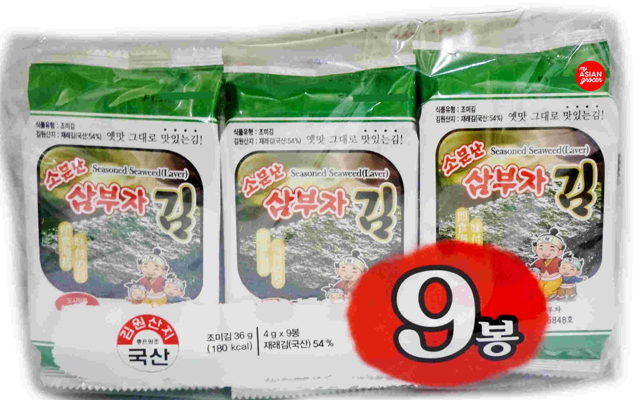 Sambuja Seasoned Seaweed (Laver) 4g x 9 Pack