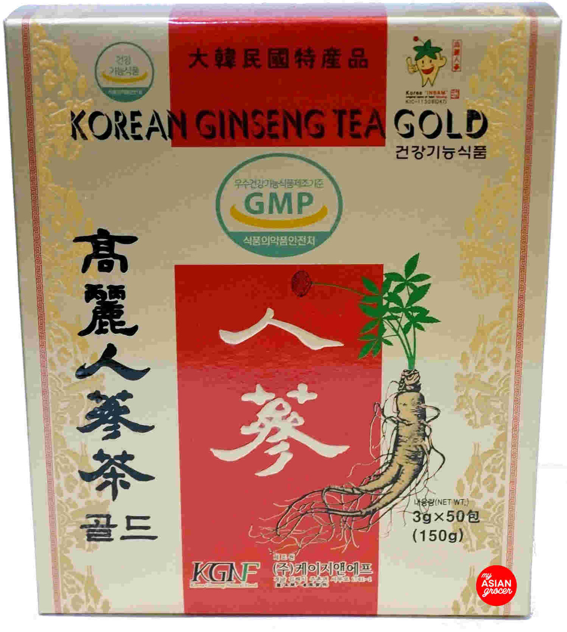 KGNF Korean Ginseng Tea Gold 3g x 50 Sachet