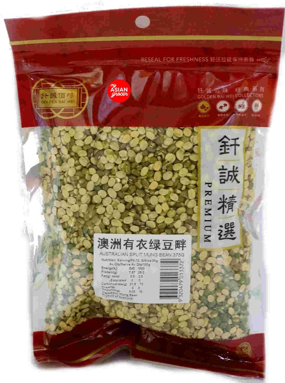 Golden Bai Wei Split Mung Bean 375g