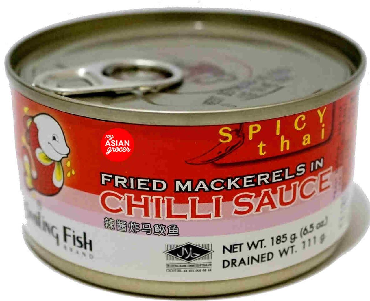 Smiling Fish Brand Fried Mackerels in Chilli Sauce 185g