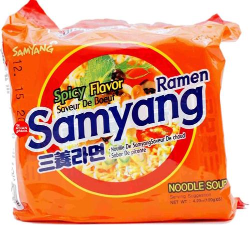 Samyang Ramen Spicy Flavor 120g x 5 Pack