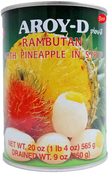 Aroy-D Rambutan with Pineapple in Syrup 565g