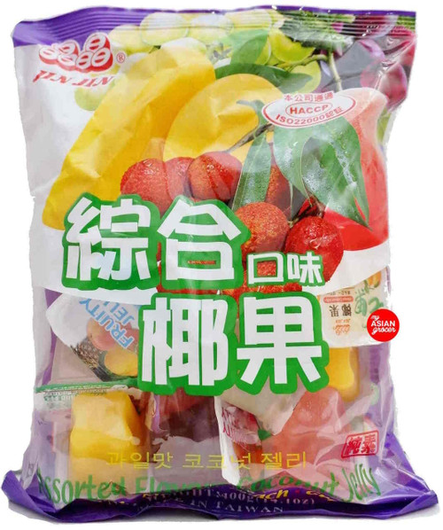 Jin Jin Assorted Flavors Coconut Jelly 400g