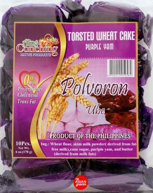 Aling Conching Toasted Wheat Cake Polvoron Ube 170g