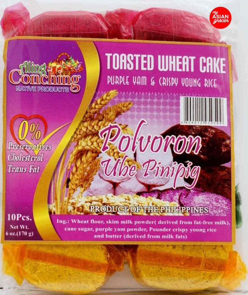 Aling Conching Toasted Wheat Cake Polvoron Ube Pinipig 170g