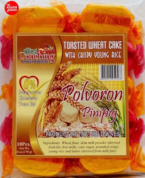 Aling Conching Toasted Wheat Cake Polvoron Pinipig 170g