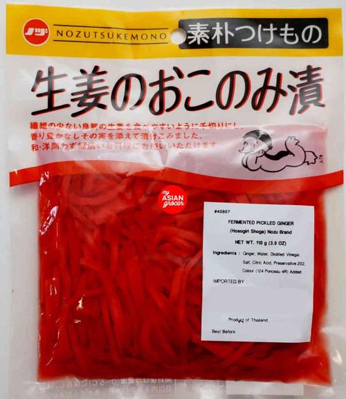 Nozu Brand Hosogiri Shoga Fermented Pickled Ginger 110g