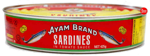 Ayam Sardines in Tomato Sauce Oval 425g