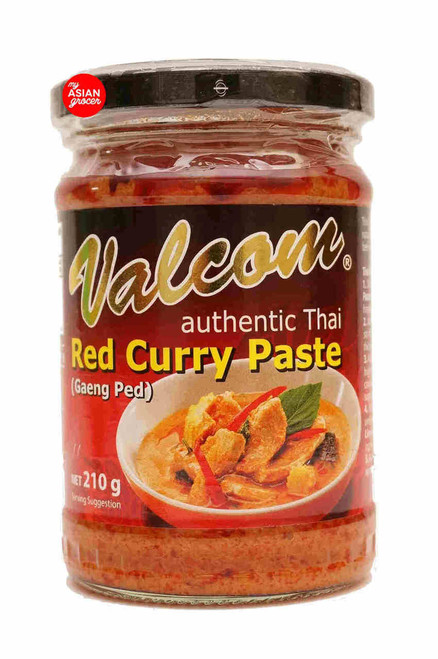 Valcom Red Curry Paste (Gaeng Ped) 210g