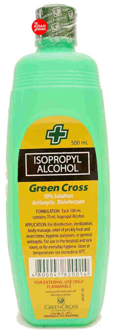 Green Cross Isopropyl 70% Alcohol 500ml