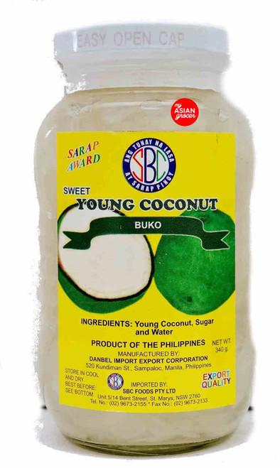 SBC Sweet Young Coconut Buko 340g