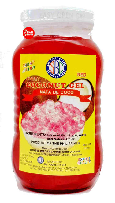 SBC Sweet Coconut Gel Red 340g