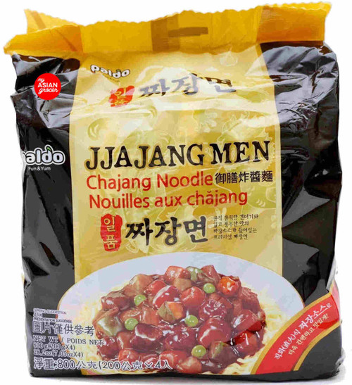Paldo JjajangMen Chajang Noodle 200g x 4 Pack