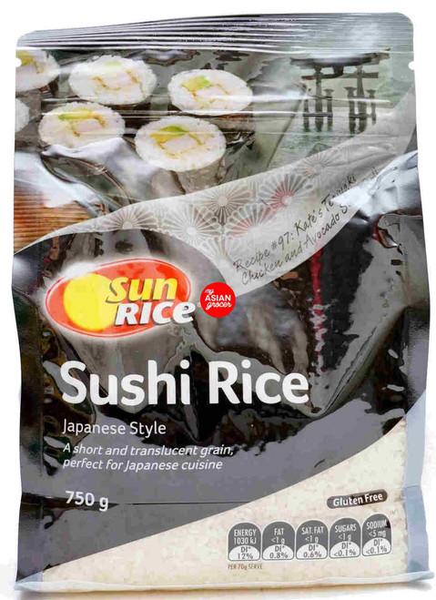 Sun Rice Sushi Rice Japanese Style 750g