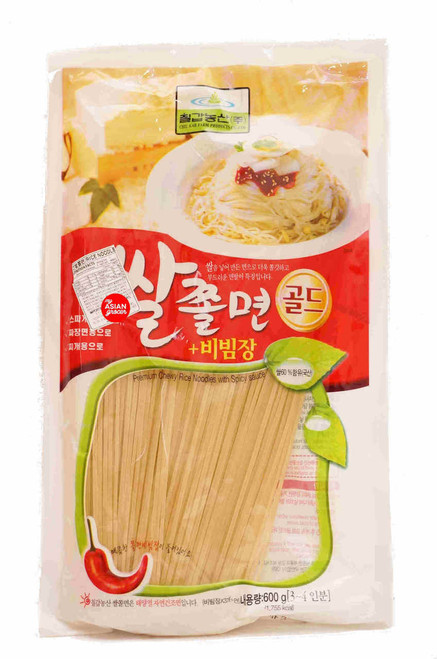 Chil Kab Farm Premium Chewy Rice Noodles with Spicy Sauce 600g