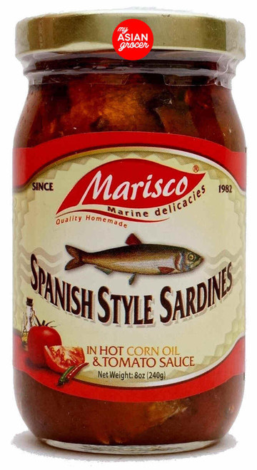 Marisco Spanish Style Sardines in Hot Corn Oil & Tomato Sauce 240g