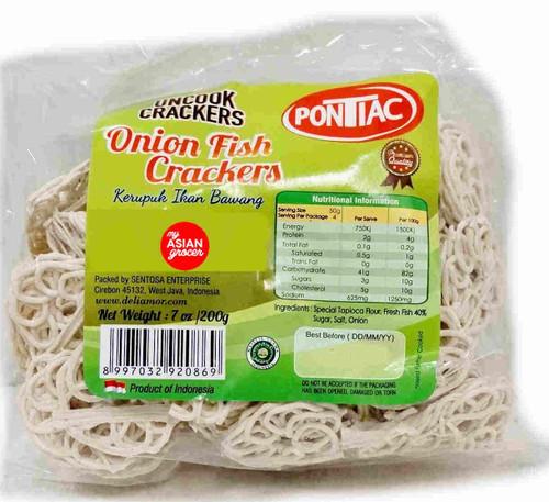Pontiac Uncooked Onion Fish Crackers 200g