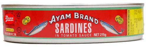 Ayam Sardines in Tomato Sauce Oval 215g
