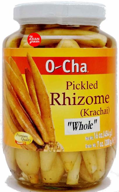 O-Cha Pickled Rhizome (Krachai) Whole 454g