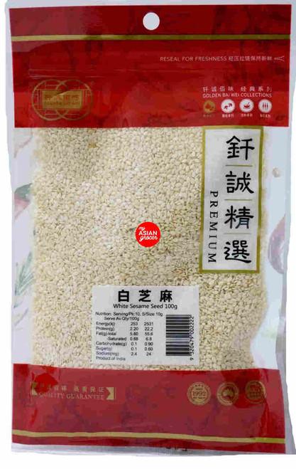 Golden Bai Wei White Sesame Seed 100g