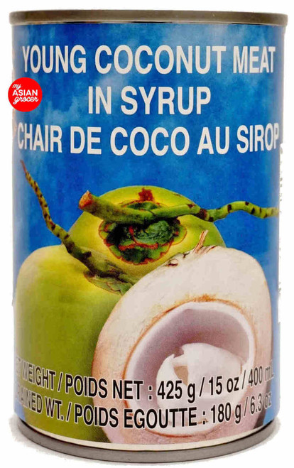 Cock Brand Young Coconut Meat in Syrup 425g