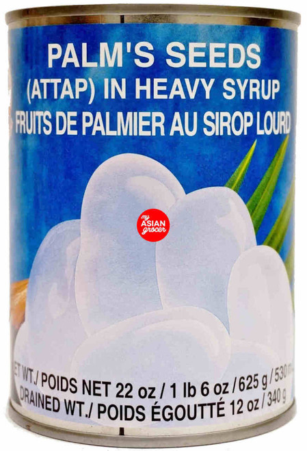 Cock Brand Palm's Seeds (Attap) in Heavy Syrup 625g