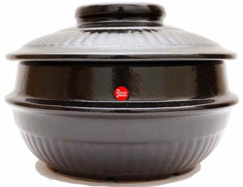 Korean Style Glazed Claypot (Small) for Jjigae