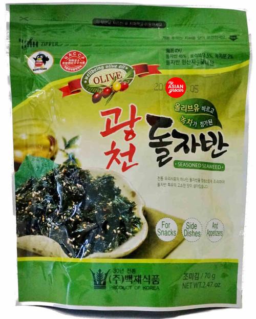 Baekje Seasoned Seaweed Laver with Olive Oil 70g