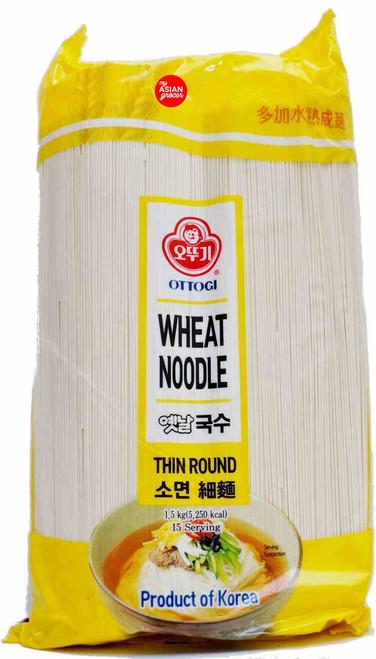 Ottogi Wheat Noodle (Thin Round) 1.5kg
