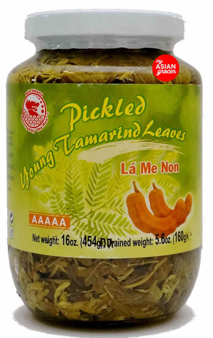 Red Drago Pickled Young Tamarind Leaves 454g