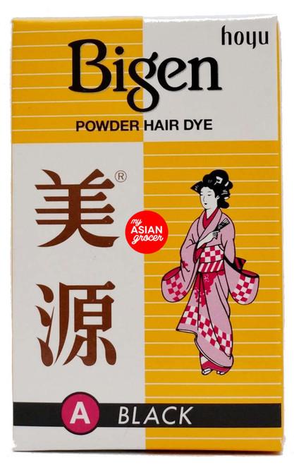 Bigen Powder Hair Dye (A) Black 6g
