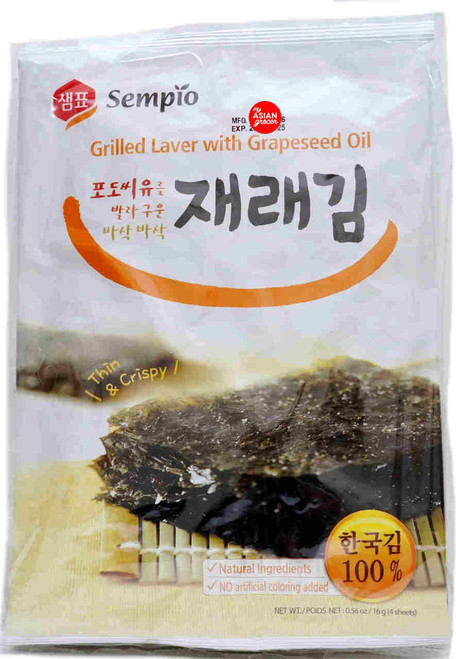 Sempio Grilled Laver with Grapeseed Oil 16g x 5 Pack