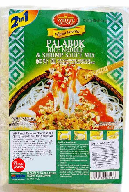 White King Palabok Rice Noodle & Shrimp Sauce Mix 60g