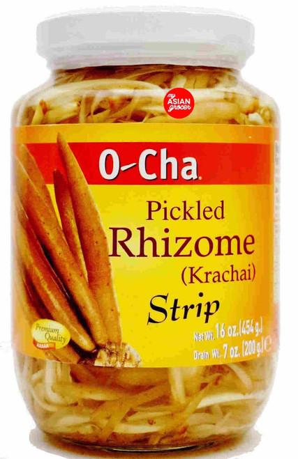 O-Cha Pickled Rhizone (Krachai) Strip 454g