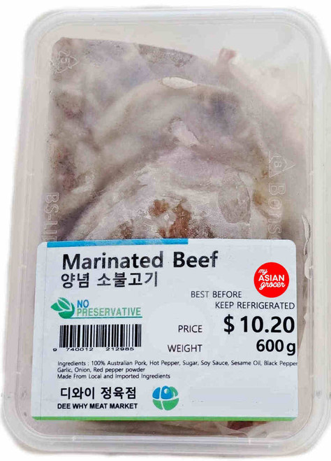 Dee Why Meat Market Marinated Beef 600g