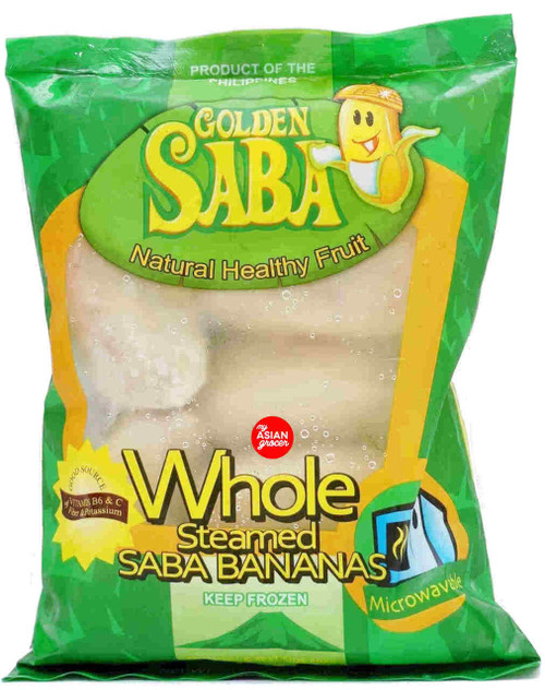 Golden Saba Whole Steamed Saba Bananas 454g