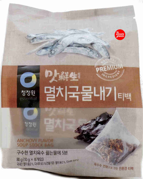 ChungJungOne Anchovy Flavor Soup Stock Bag 10g x 8